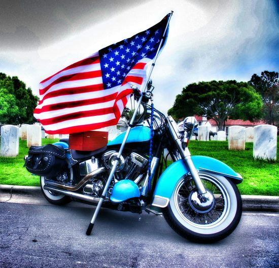 Seeing The Sights Ft. Rosecrans look on the bike and you will see we were there to Dead Enjoying Life San Diego Ca Funeral Military Veterans To Remember
