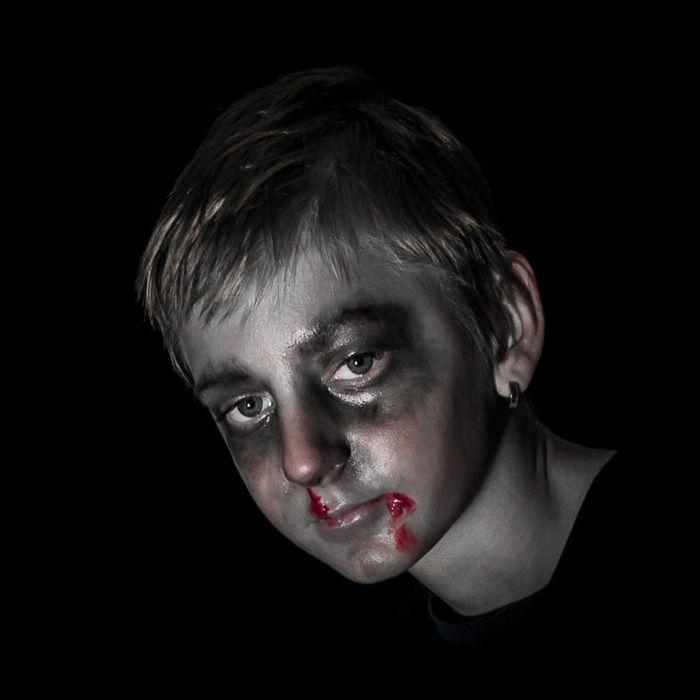 Halloween Horrors Monochrome Portrait