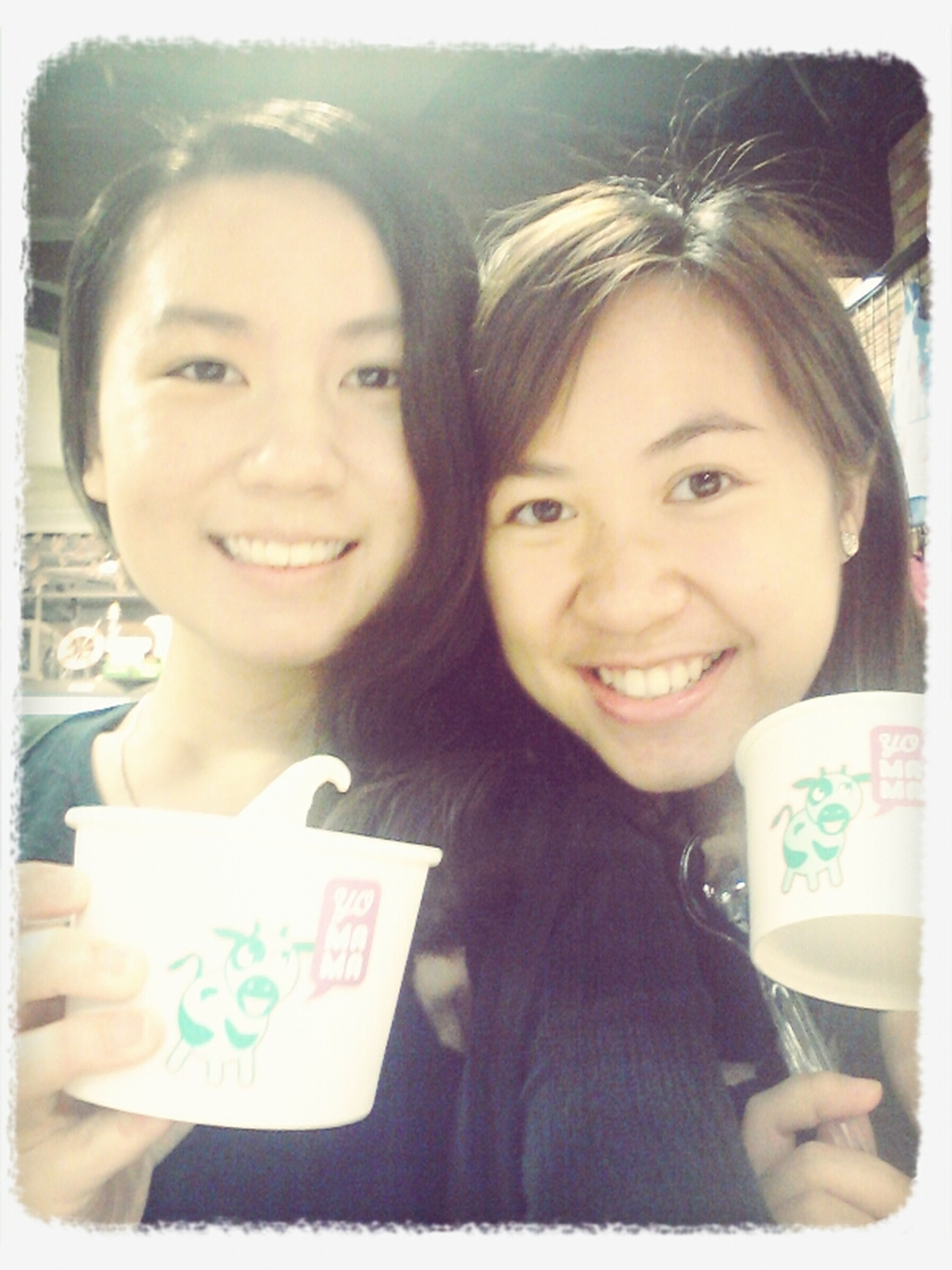 Doing our tradition :D my all time favorite yomama! yeah :P