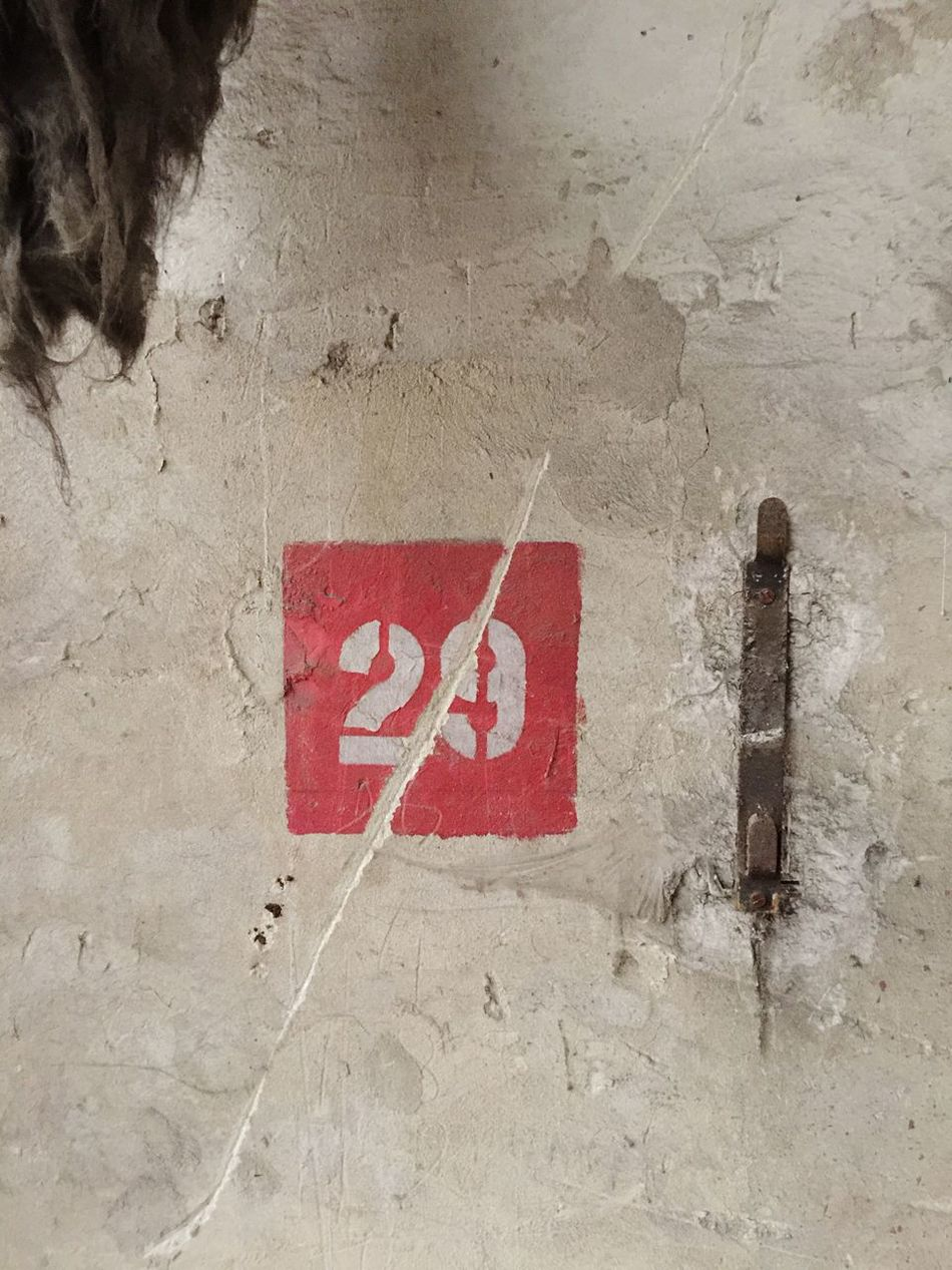 Nofilter Number 29 White Wall Red Old Dirty Industrial Signs