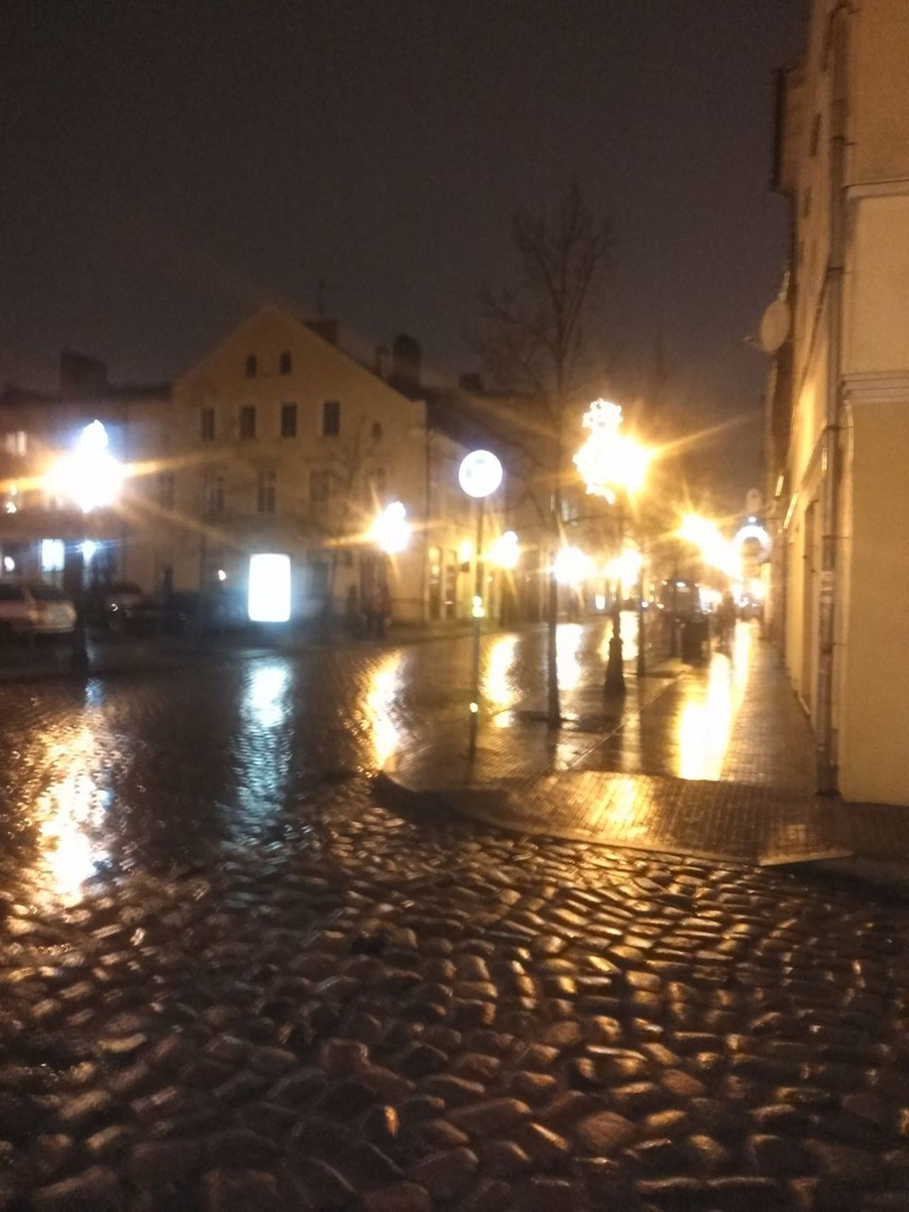 Rainy night in Klaipėda. Architecture Building Exterior Built Structure City Illuminated Klaipeda Old Town Lithuania Night No People Outdoors Reflection Sky Water
