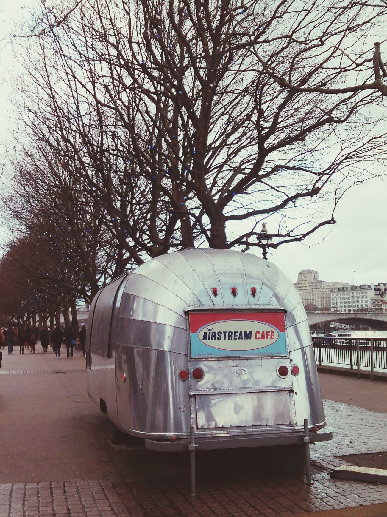 Travel London TheQueensWalk Airstream Café Airstream
