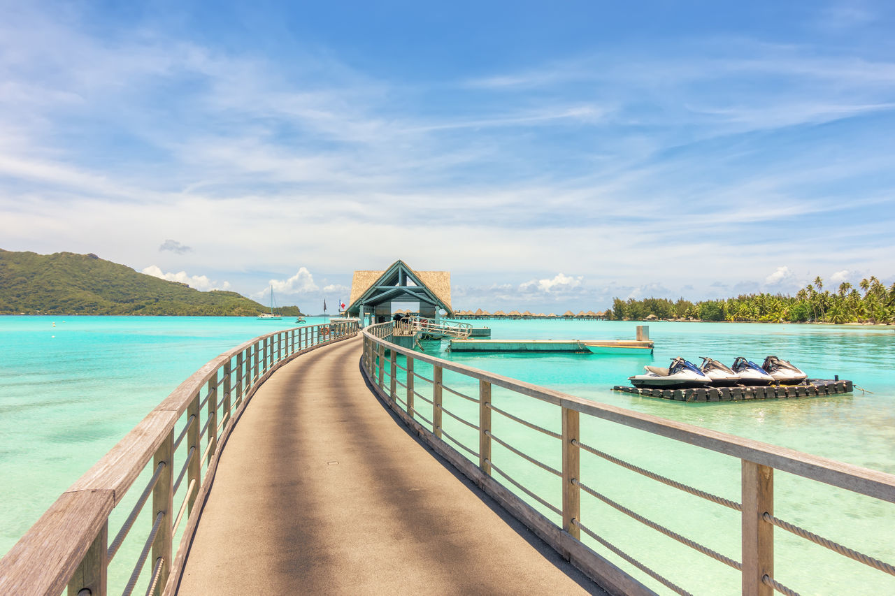 Beautiful stock photos of bora bora, sky, water, blue, sea