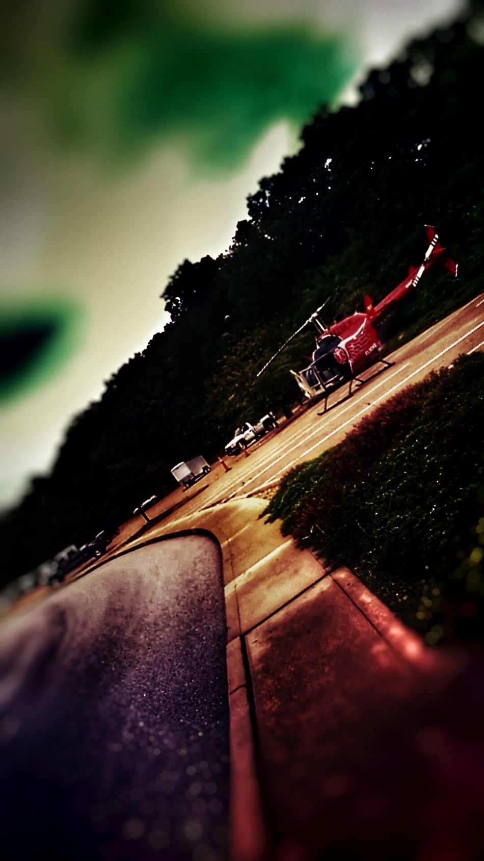 The Impurist Emergency Landing Service Vehicle Hell Copter Blurred Visions Darkness And Light Didnt Make It Mother Vs Nature Tilt-a-world