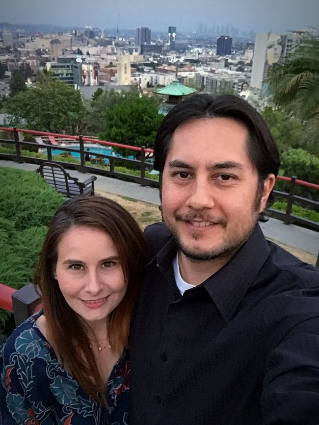Wedding Anniversary Dining Out Hollywood Hills Yamashiro Hollywood Usie Portrait