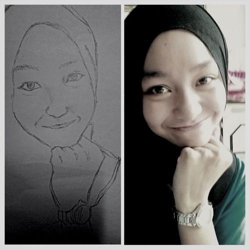 Drawing of her :) miss you bae ?