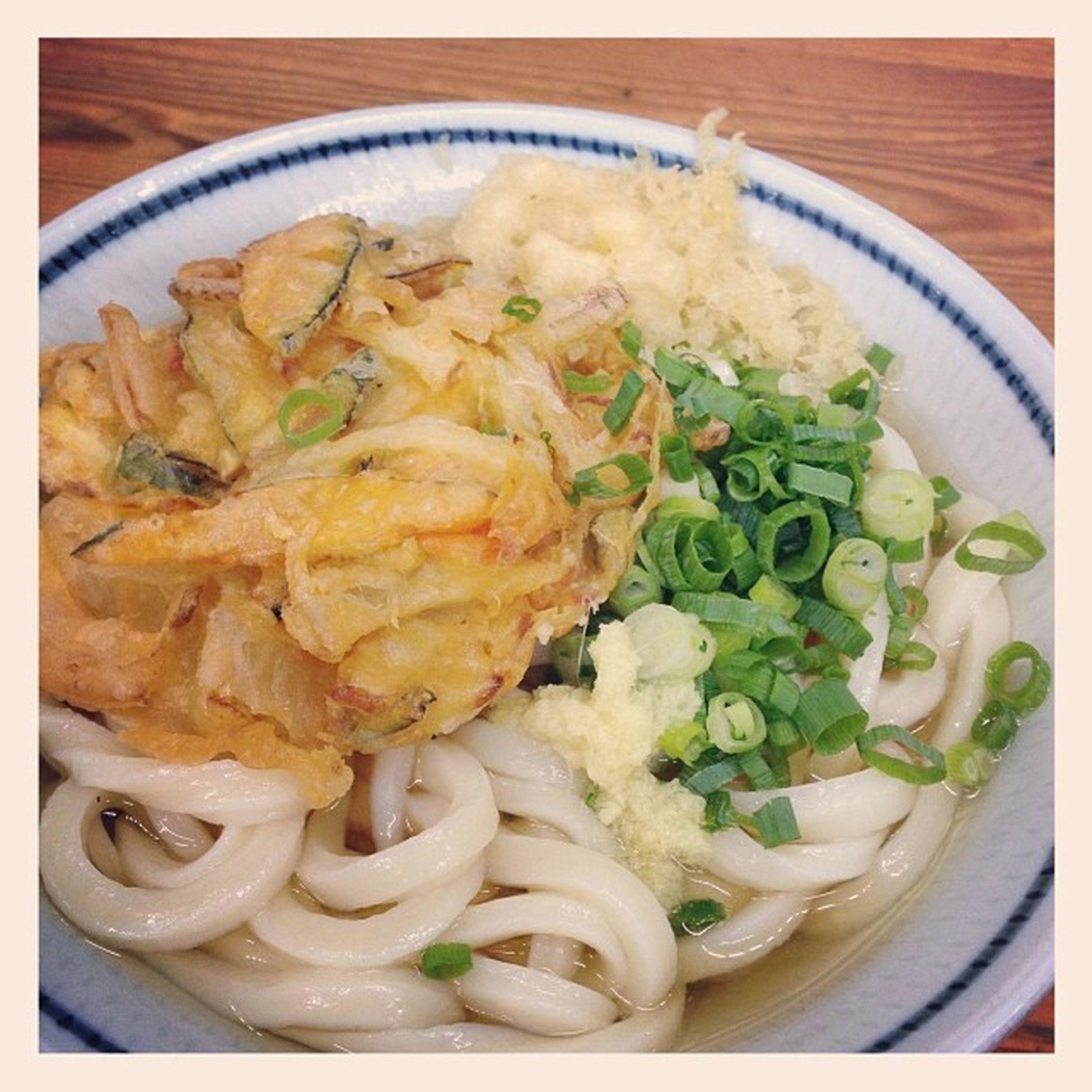 """Udon Food  うどん 仕事あがる直前から妄想してた…??朝早くからやってるから助かるよ""""さか枝""""さん???"""