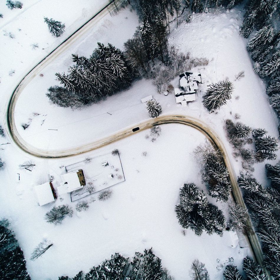 - Curve - Tree Winter High Angle View Snow No People Outdoors Nature Cold Temperature Outdoor Landscape Tree Cold Czech Republic Drone  From Above  EyeEm Best Shots EyeEm Nature Lover Winter Beauty In Nature Nature Wintertime Cold Days EyeEm Best Edits Road Curve Flying High
