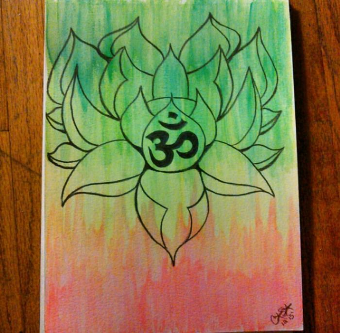 Paper No People Lotus Lotus Flower Namaste ❤ Watercolor Watercolor Painting Drawing Art ArtWork Art, Drawing, Creativity Art Gallery Create Create Art Paint Painting Peace OM Place Of Heart