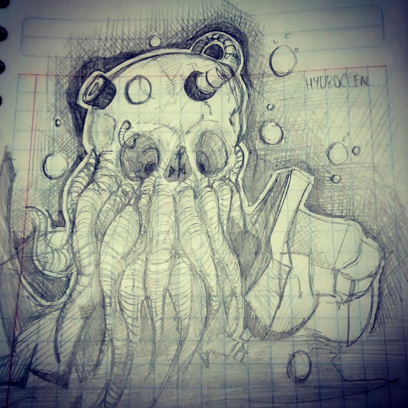 A fast draw Draw Sketch Cofee Break Cthulhu Art, Drawing, Creativity Wawricio