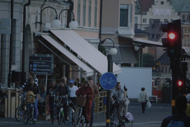 Architecture Bike Bike Ride Bikers Bikes Biking Building Exterior Built Structure Casual Clothing City City Life Crowd Day Large Group Of People Leisure Activity Lifestyles Men Mode Of Transport Person Retail  Walking