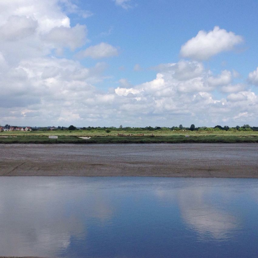 The tide is out! Estuary Maldon, Essex Reflections On The Water