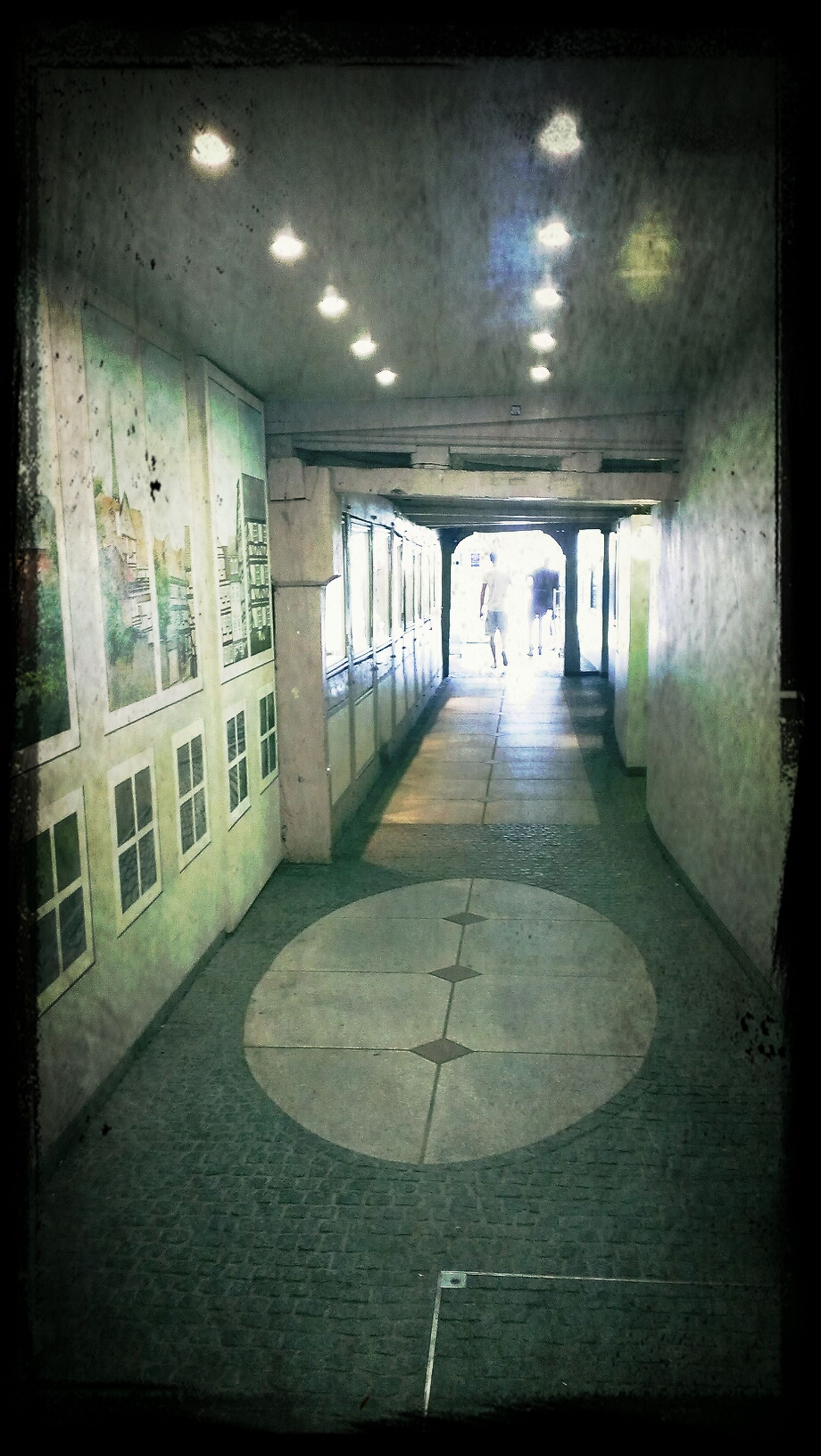 indoors, architecture, built structure, transfer print, corridor, empty, flooring, auto post production filter, ceiling, the way forward, absence, diminishing perspective, tiled floor, building, no people, reflection, day, window, illuminated, architectural column