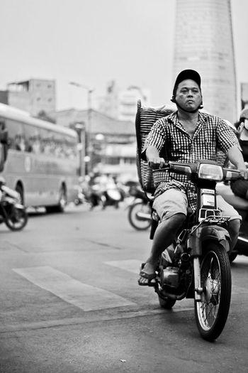 Asian  Mopeds Traffic Traffic Jam Vietnam