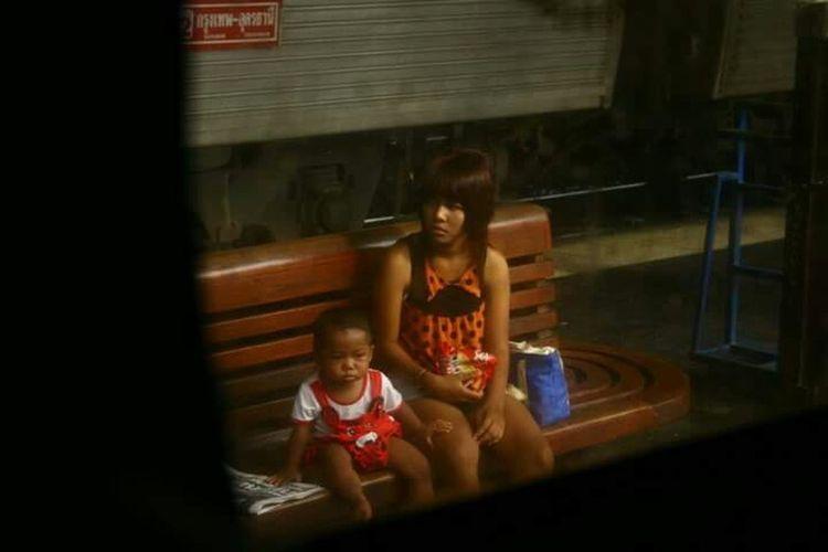 The Street Photographer - 2015 EyeEm Awards Thailand Taking Photos Woman And Child Moms Atound The World Traninsportation Train Station