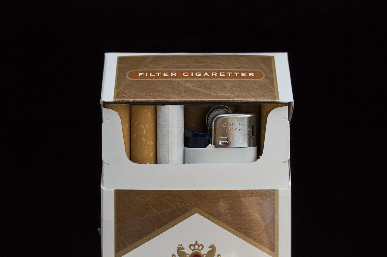 Black Background Cigarette  Color Gold Colored Lighter No People Paper Currency Smoke Smoking Still Life