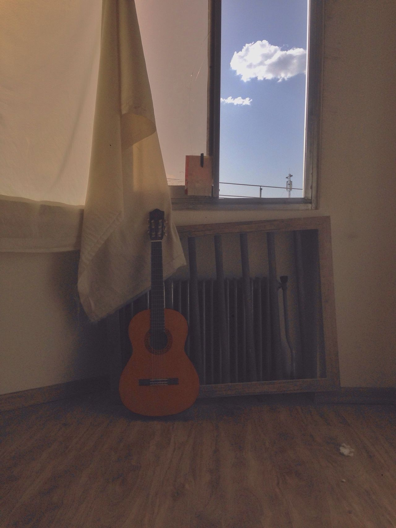 Beautiful stock photos of guitar, Architecture, Built Structure, Cloud, Curtain