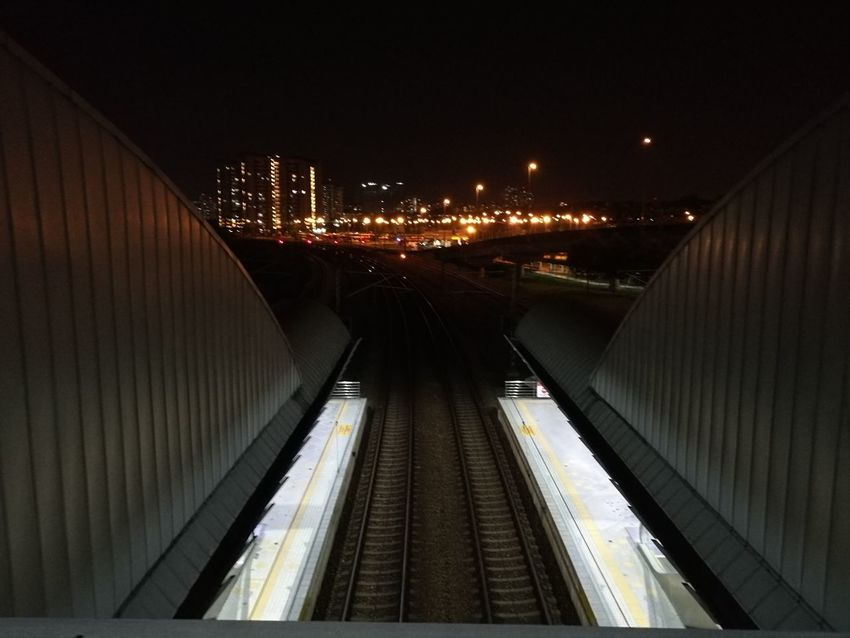 Night City No People Transportation Bridge - Man Made Structure