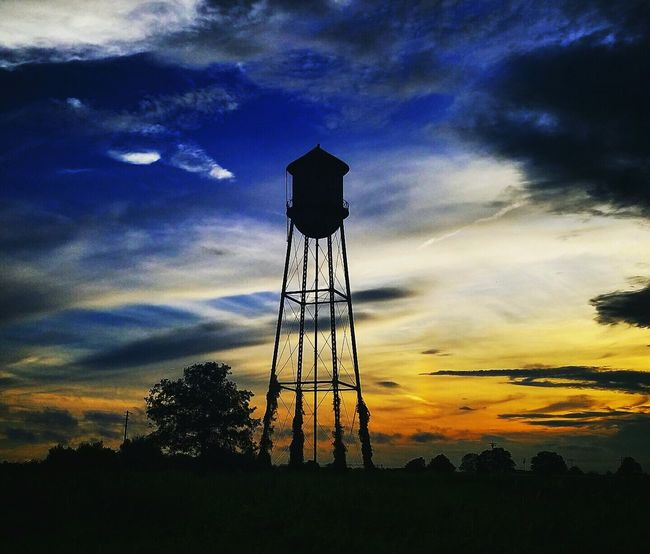 My Favorite Place Rural Scene Outdoors Scenics Silhouette Cloud Sky Moody Sky Water Tower No People Arkansas Delta Backroads