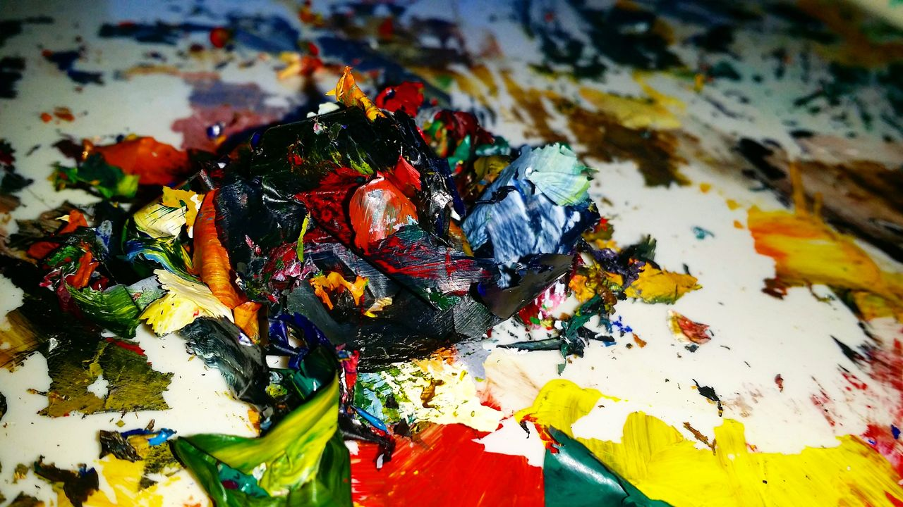 Abstract Art Paint Paint Shavings Abstract Artist Artistic Colorful Colors