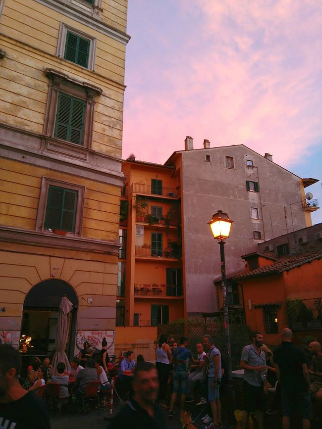 Hidden Gems  Hanging Out Enjoying Life Freni E Frizioni Trastevere Trasteverebynight Aperitivo Time Italy🇮🇹 Sunset And Clouds  People Rome Through My Eyes