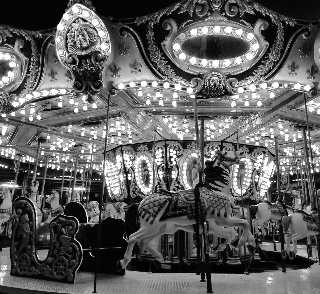Amusement Park Carousel Arts Culture And Entertainment Amusement Park Ride Carousel Horses No People Day Day Out With Family Horses Lights And Shadows