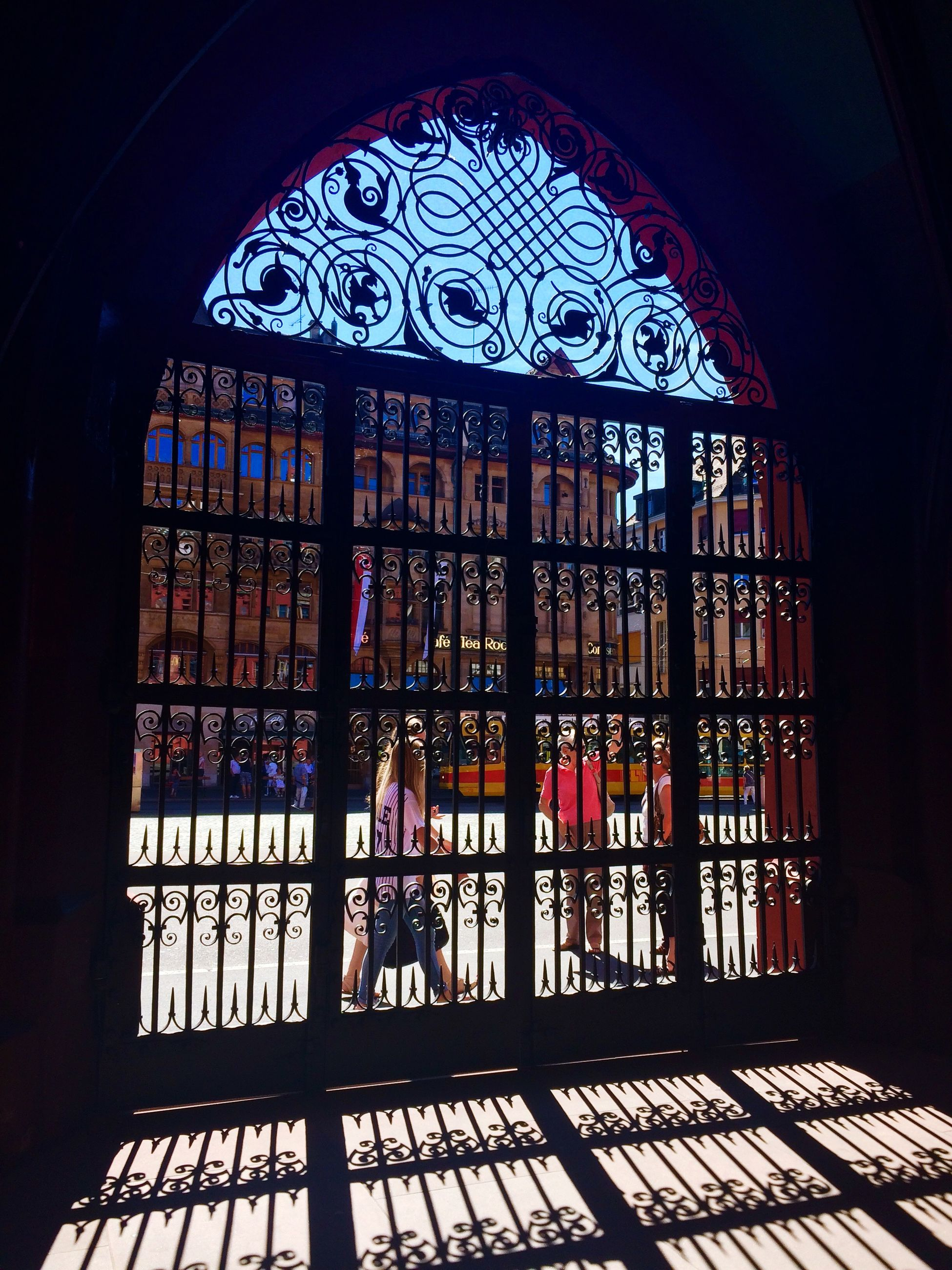 indoors, architecture, built structure, arch, place of worship, religion, window, church, spirituality, entrance, stained glass, door, building exterior, ornate, cathedral, day, glass - material, pattern