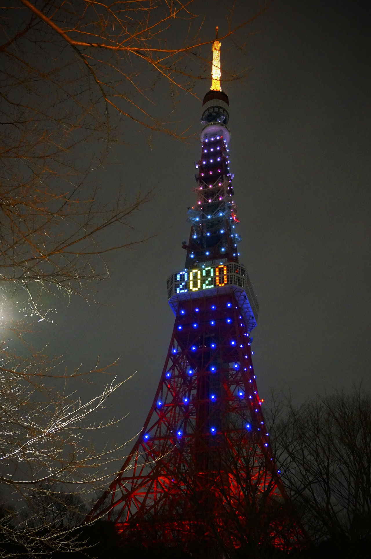2013 2020 City Illuminated Night Olympic Outdoors Rainbow Rainbow Colors Sky Tokyo Olympic Tokyo Tower Tower オリンピック 増上寺 東京オリンピック 東京タワー