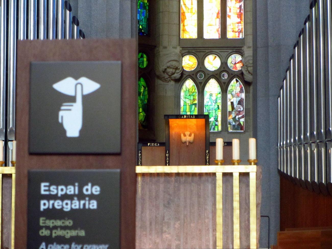 Space for praying Art Barcelona Barcelonalove Cathedral Church España Gaudi Indoors  Meditation Mosaico No People Praying Sacred Sagrada Familia Shhhhhhhhhhh.... Silence SPAIN