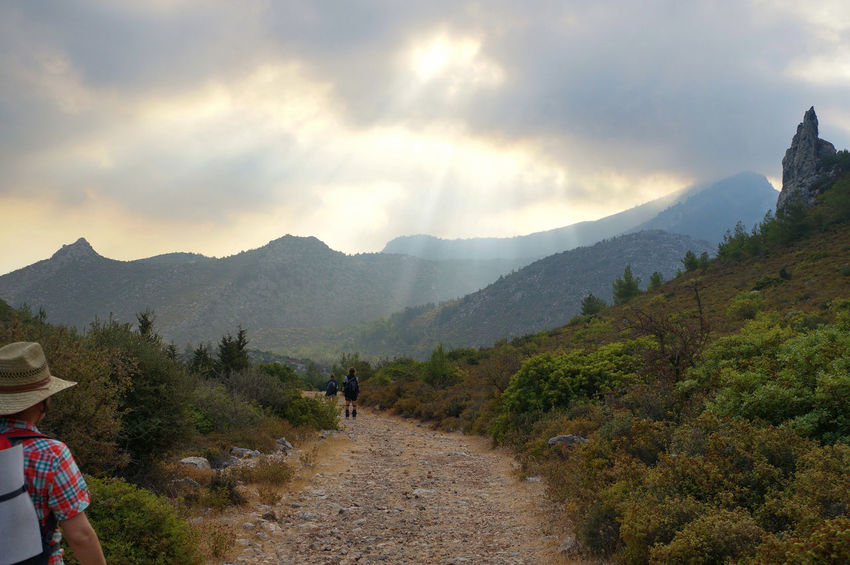 Cyprus Girne Hiking Kyrenia Mountains Sunrays Beauty In Nature Besparmak Dawn Landscape Leisure Activity Mountain Mountain Range Nature North Cyprus Outdoors People Real People Scenics Sky Tranquility