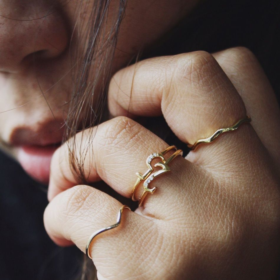 Beauty Editorial Human Hand Human Body Part One Person Close-up One Woman Only Beauty Brunette Jewelry Young Women Ring