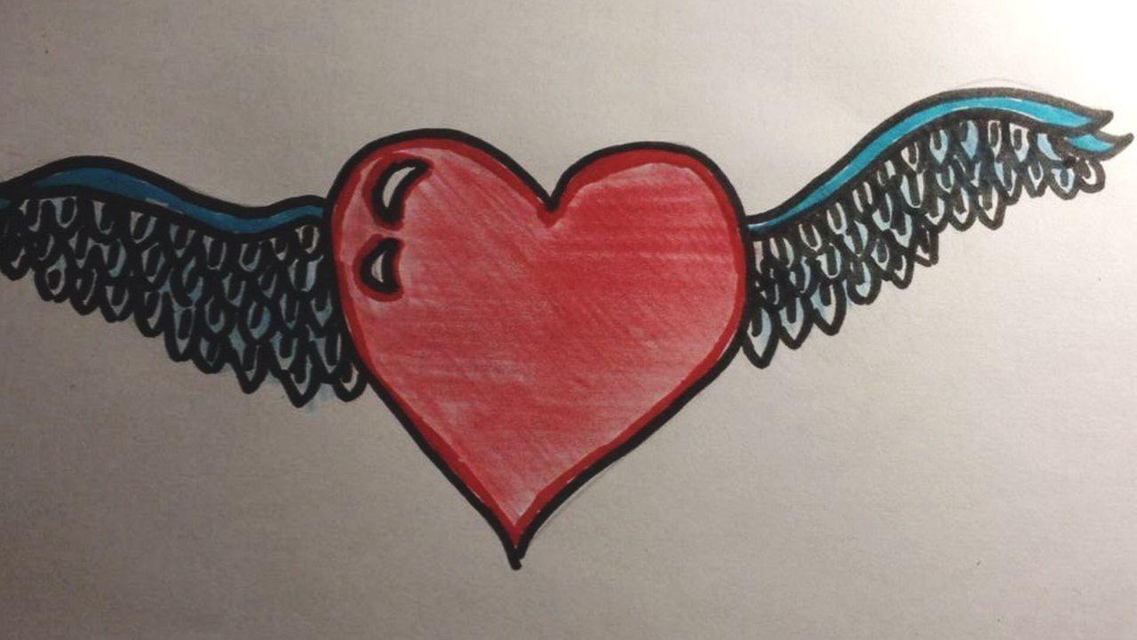 My Heart Heart Heart ❤ Drow Drowning Drowing Hearts Heartshape Heart Shape Heartagram There Was A Hole in My Heart but Now is Good Ok Fine Wings Wings Of Desire Imnotalone I'm Not Alone Dreams Heartbroken Free Fly Flyaway Flying High Fly Away