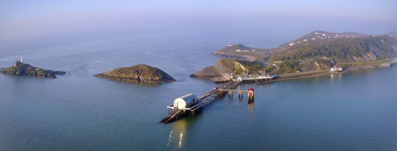 Morning high tide... Water Outdoors Sea Sky Day Sea View High Angle View Dronephotography Peace And Quiet Wales Nature No People Tranquil Scene Lifeboat Station... Transportation Nature Outdoors Tranquil Scene Sea