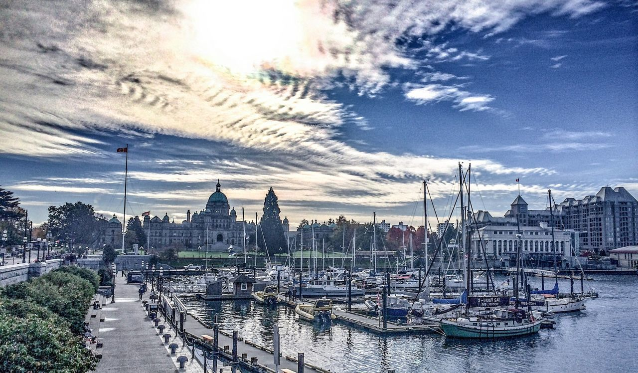 IPhone Photography Victoria HDR Sightseeing Sea And Sky Habour Landscape Clouds And Sky