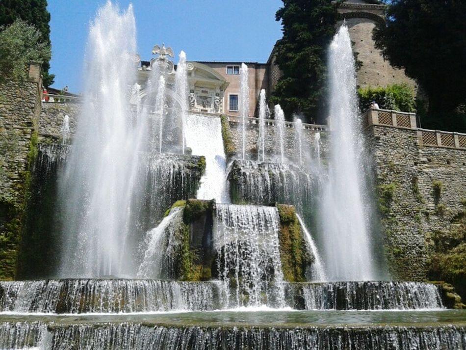 Picture In Motion Fountain Water Fountain Show Italy Sky Waterfall Beautiful Tivoli Garden Tivoli Fine Art Photography