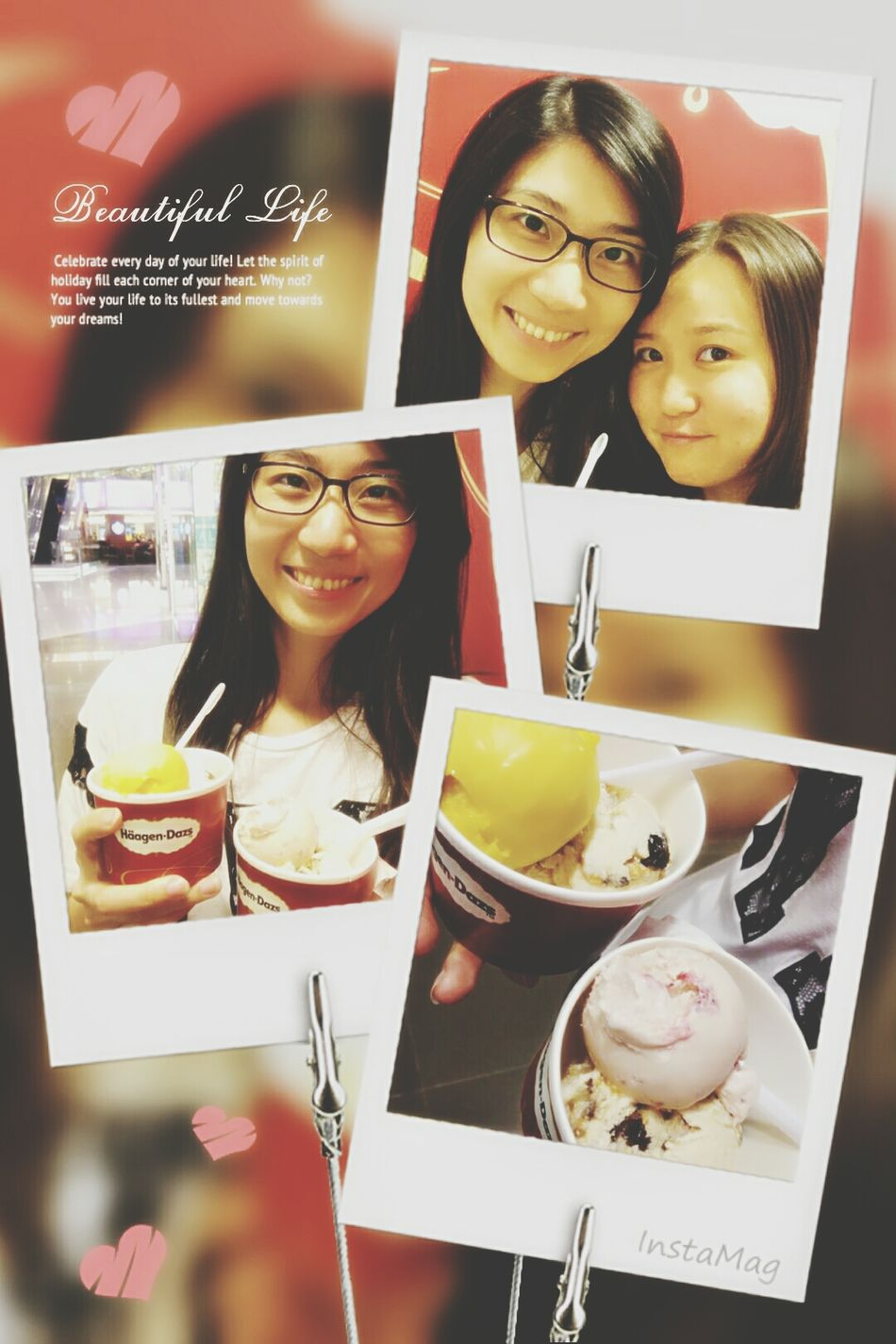 Ice cream Time!!!Buy one get one free!!!yeah~ Happy Holiday Hanging Out With Friend Haagen Dazs Yummy♡
