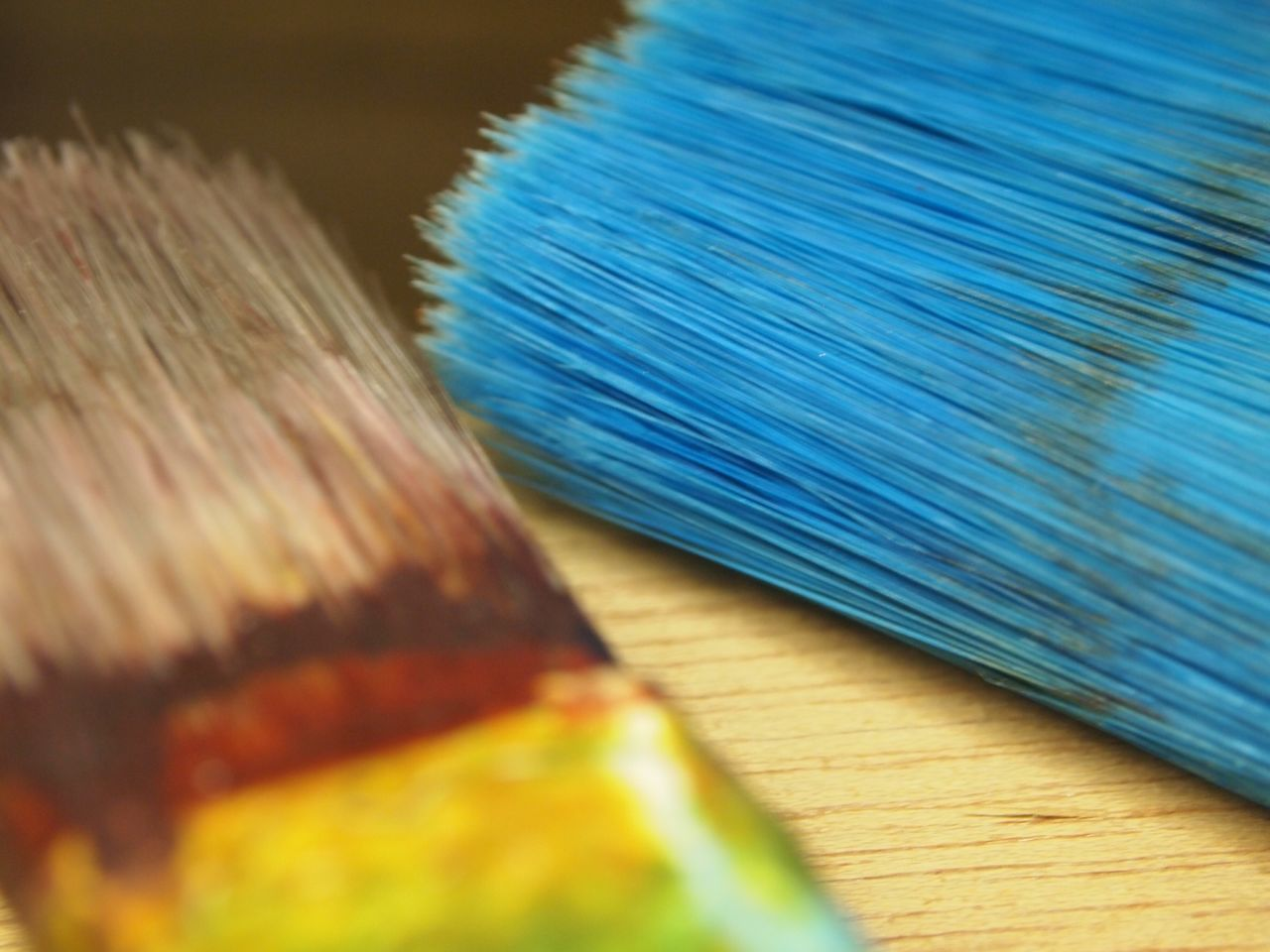 Paint Close-up Paintbrush Workshop Indoors  No People Day Multi Colored Blue Art Crafts Palette Oil Paint