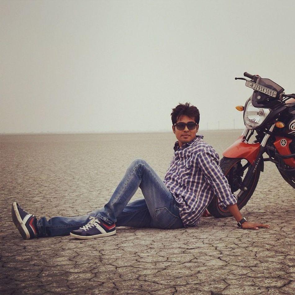 Cool Indian Yamaha Bike Dry Sea Desert Awesome Manishbagari