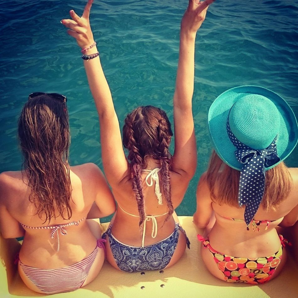 Hanging Out Happy Girls Are The Prettiest  Enjoying Life Friends ❤ Love Us Seaside Floating Taking Photos Summertime