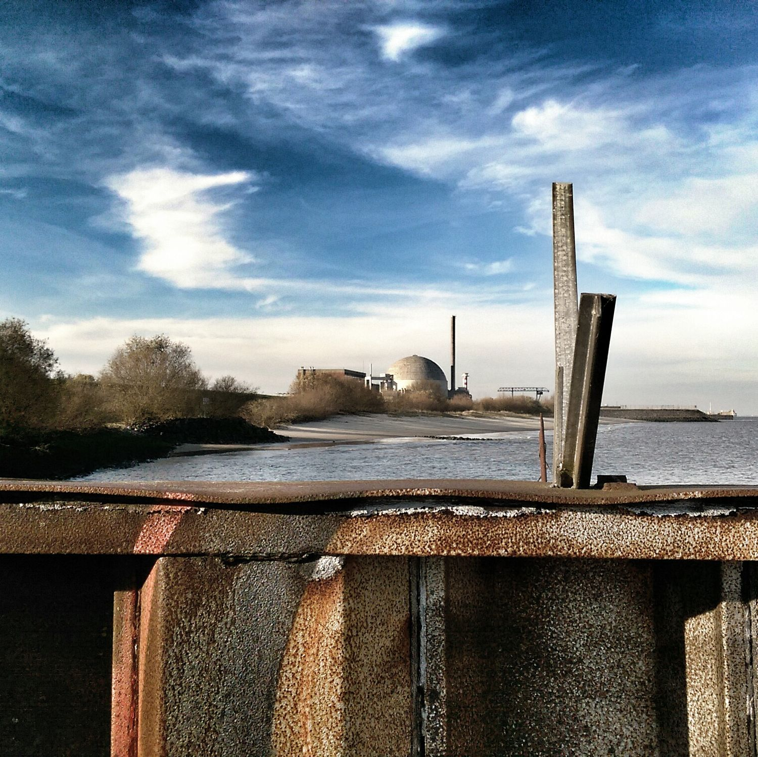 Old atomic power plant, now switched off for 11 years. Architecture Beach Photography Ruins Atomenergie