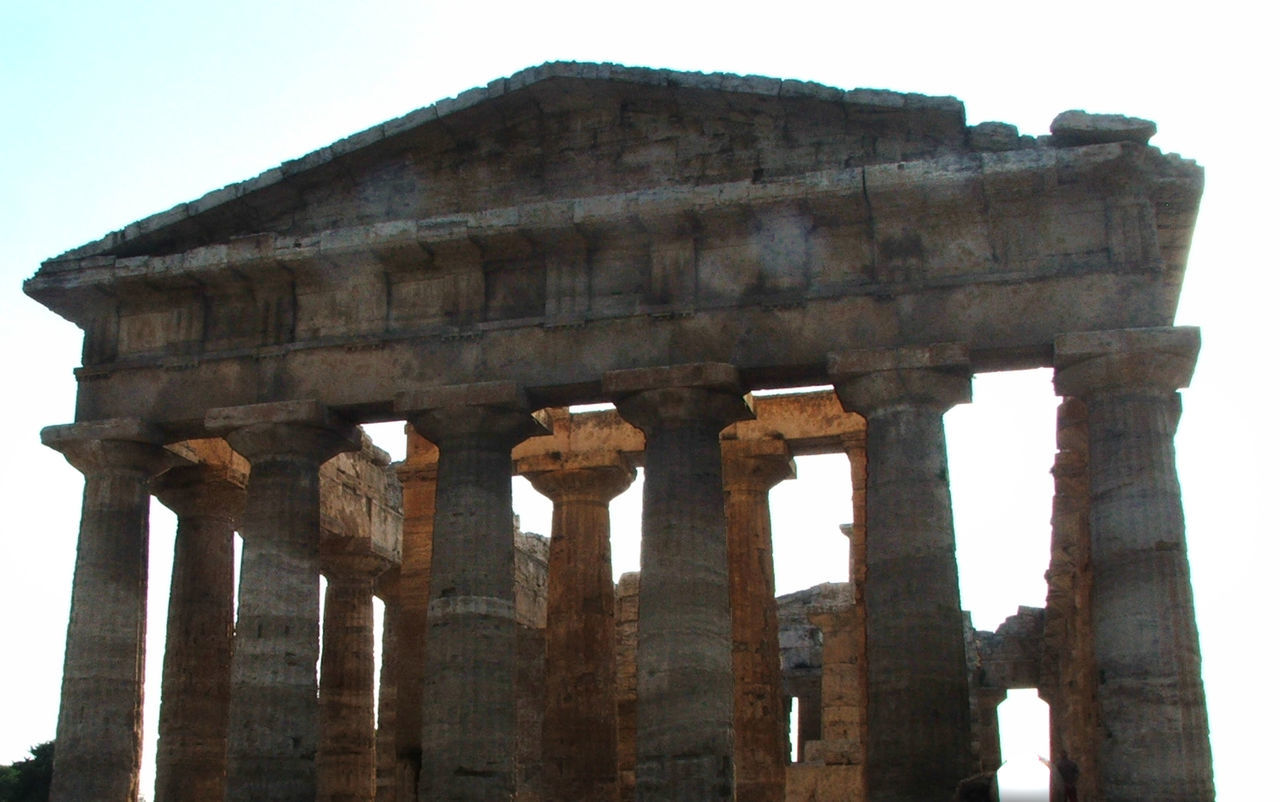 Salerno Historic Travel Destinations Power In Nature Beauty In Nature Paestum Naples, Italy No People Outdoors