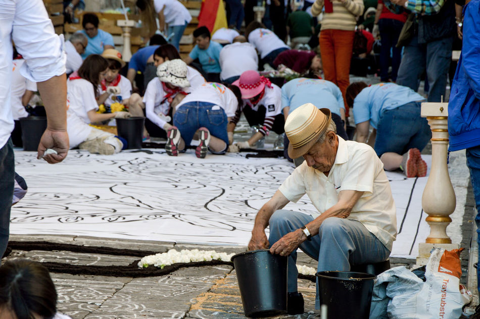 Cultures Group Of People Infiorata 2016 Large Group Of People Leisure Activity Men Person Teamwork