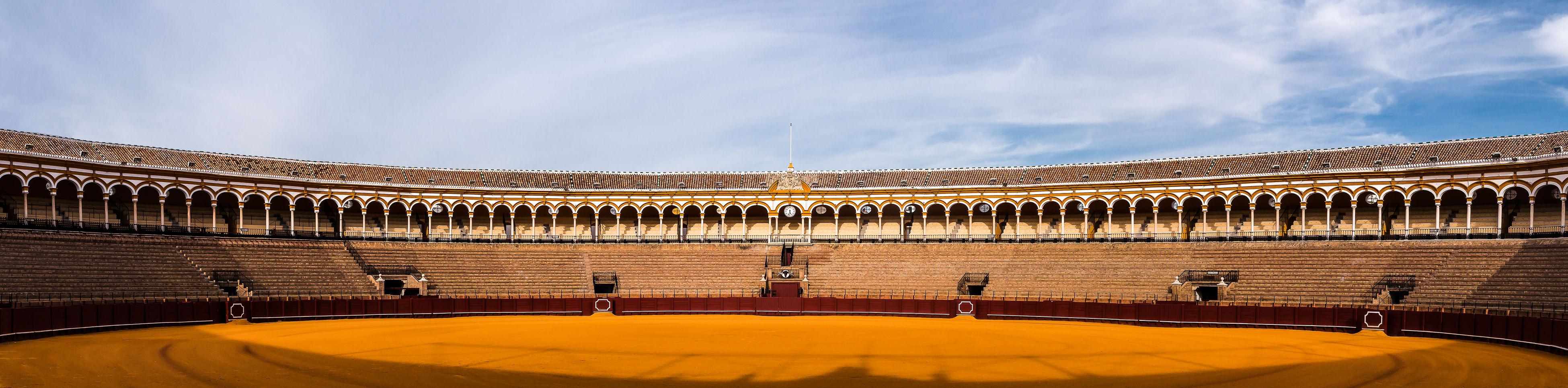 Andalucía Archtecture Bullfight Arena Corrida Panorama Panoramic Photography Sevilla Showcase July SPAIN Teatro De La Maestranza Travel Destinations Travel Photography