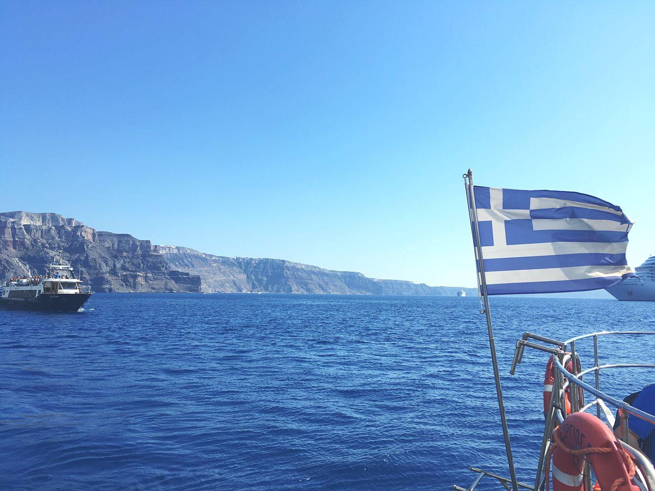 Ocean Blue Greece Santorini Sky