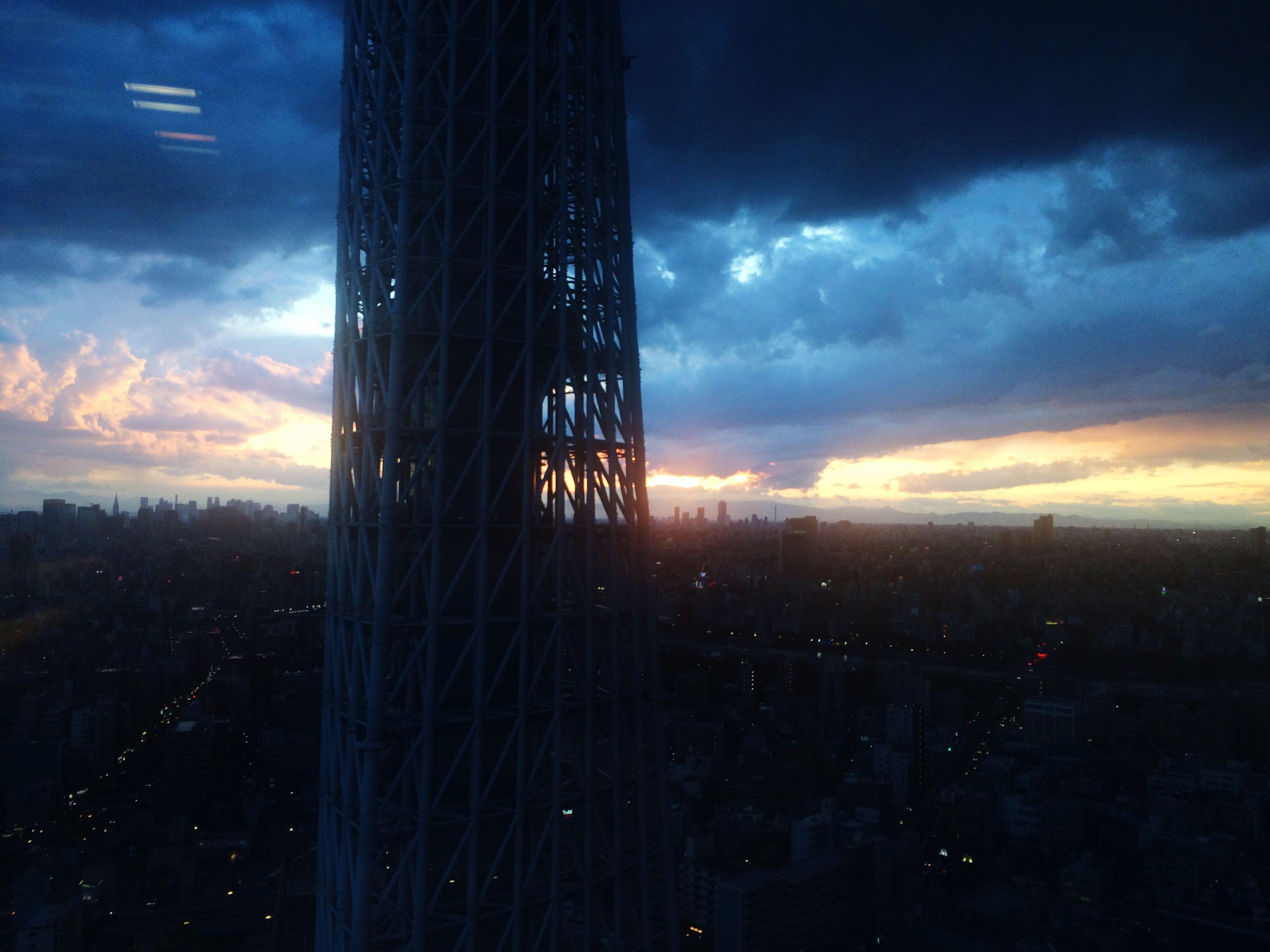 sunset, sky, architecture, building exterior, built structure, cloud - sky, city, cityscape, silhouette, cloud, dusk, orange color, cloudy, landscape, skyscraper, dramatic sky, no people, modern, tower, outdoors