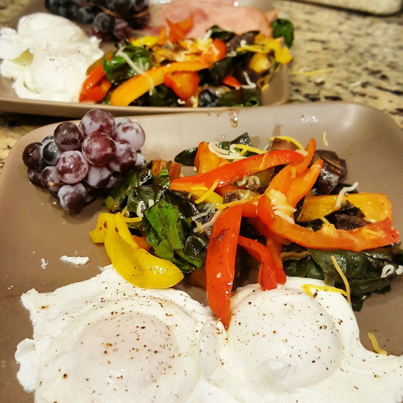 Onthetable Poachedeggs Sauteed Veggies Breakfast For The Love Of Food