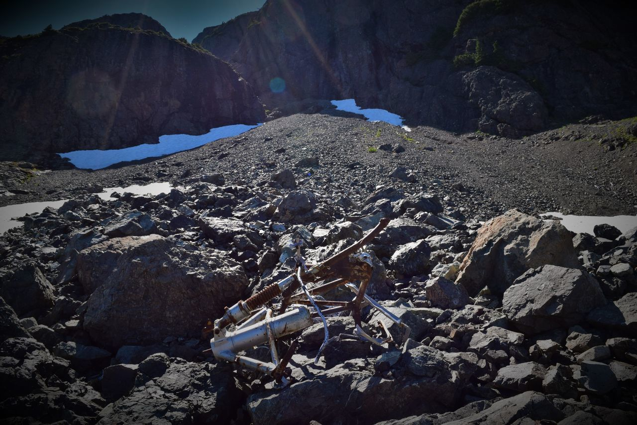 rock - object, mountain, nature, outdoors, day, no people, tranquility, sunlight, physical geography, beauty in nature, scenics, sky
