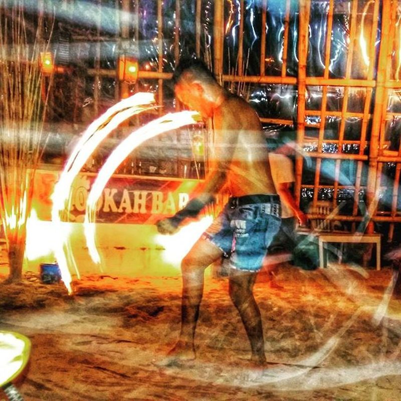 """One of my fav shot.. ""The Man On fire"" HookahBar Boracay2015❤️ Firedancer Dailylifephotos DailyShots Travel Exploring Photography Photooftheday TravelingShow"