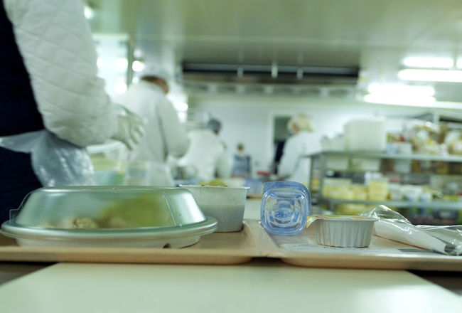 Bowl Close-up Food Food And Drink Indoors  Occupation Preparation  Table Meal Trays Kitchen Industrial Professional Depth Of Field Focus On Foreground Hospital Belgium hospital kitchen
