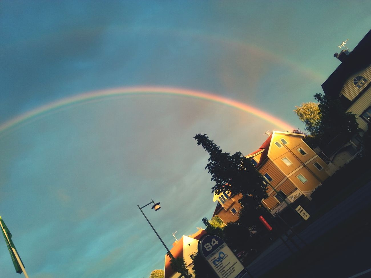 rainbow outside work. It easiers the pain in my back a bit to see souch a beauty Taking Pictures